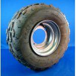 Wheel - 16-8-7 (RH 4 HOLE) SILVER RIM